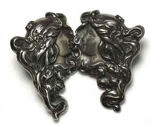 Sterling Silver Victorian Woman Earrings