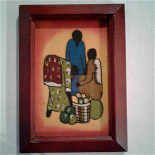 Red Wooden Frame Picture 5x7