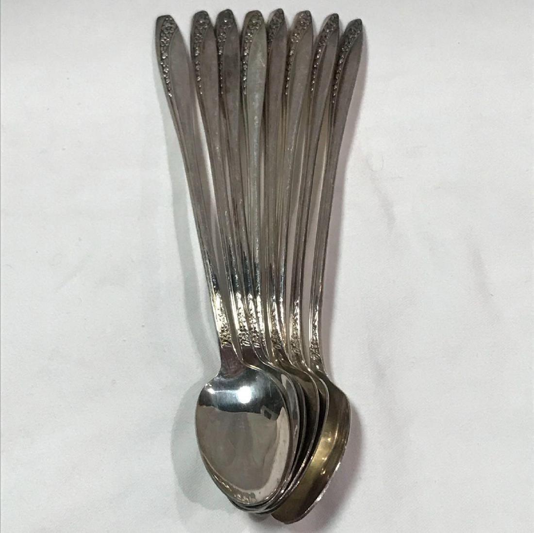 8 Wm Rogers International Silver Iced Tea Spoons
