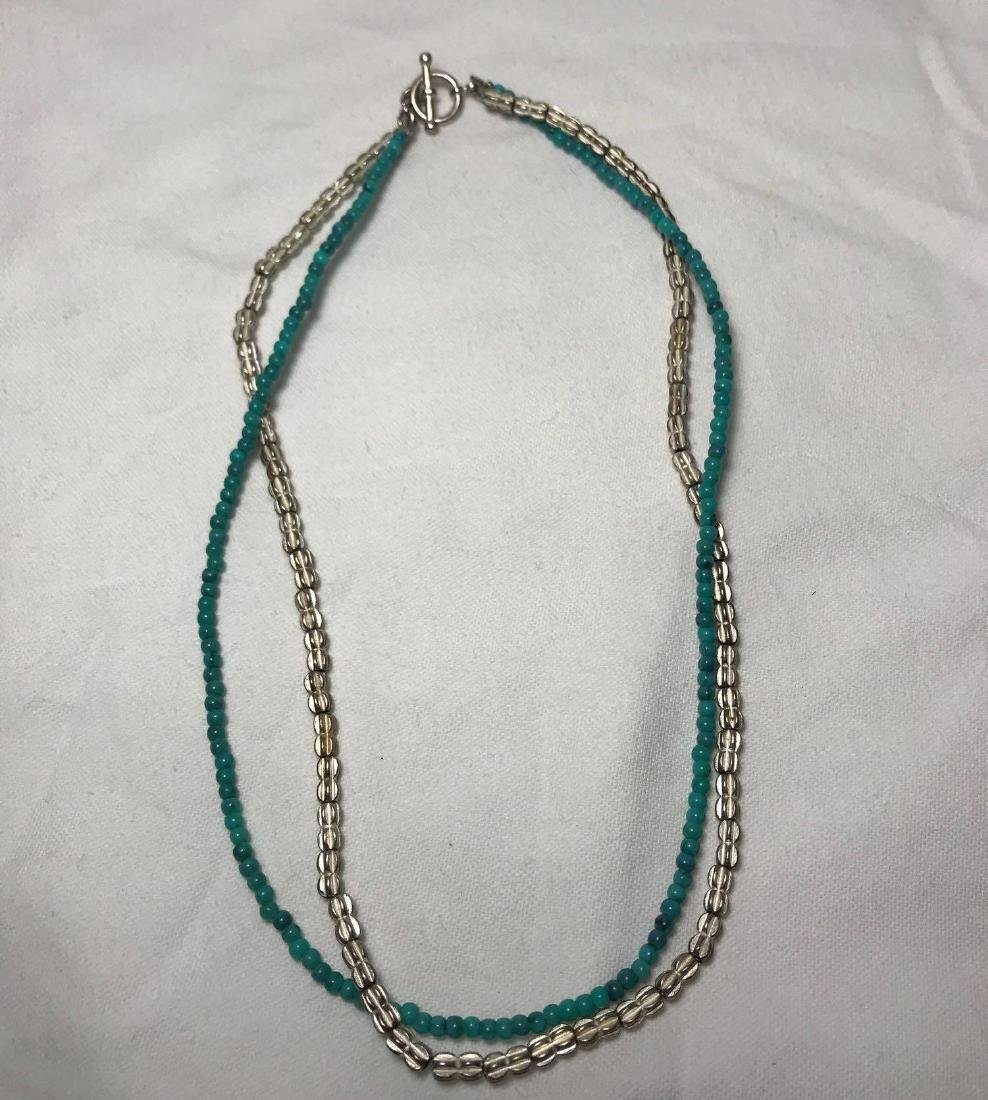 Turquoise and Silver Colored Necklace