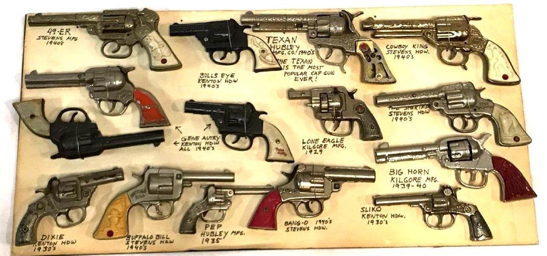14 Toy Cap Gun Collection 1920's-1940's