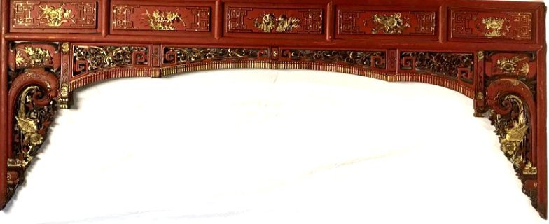 Large Wooden Chinese Temple Panel