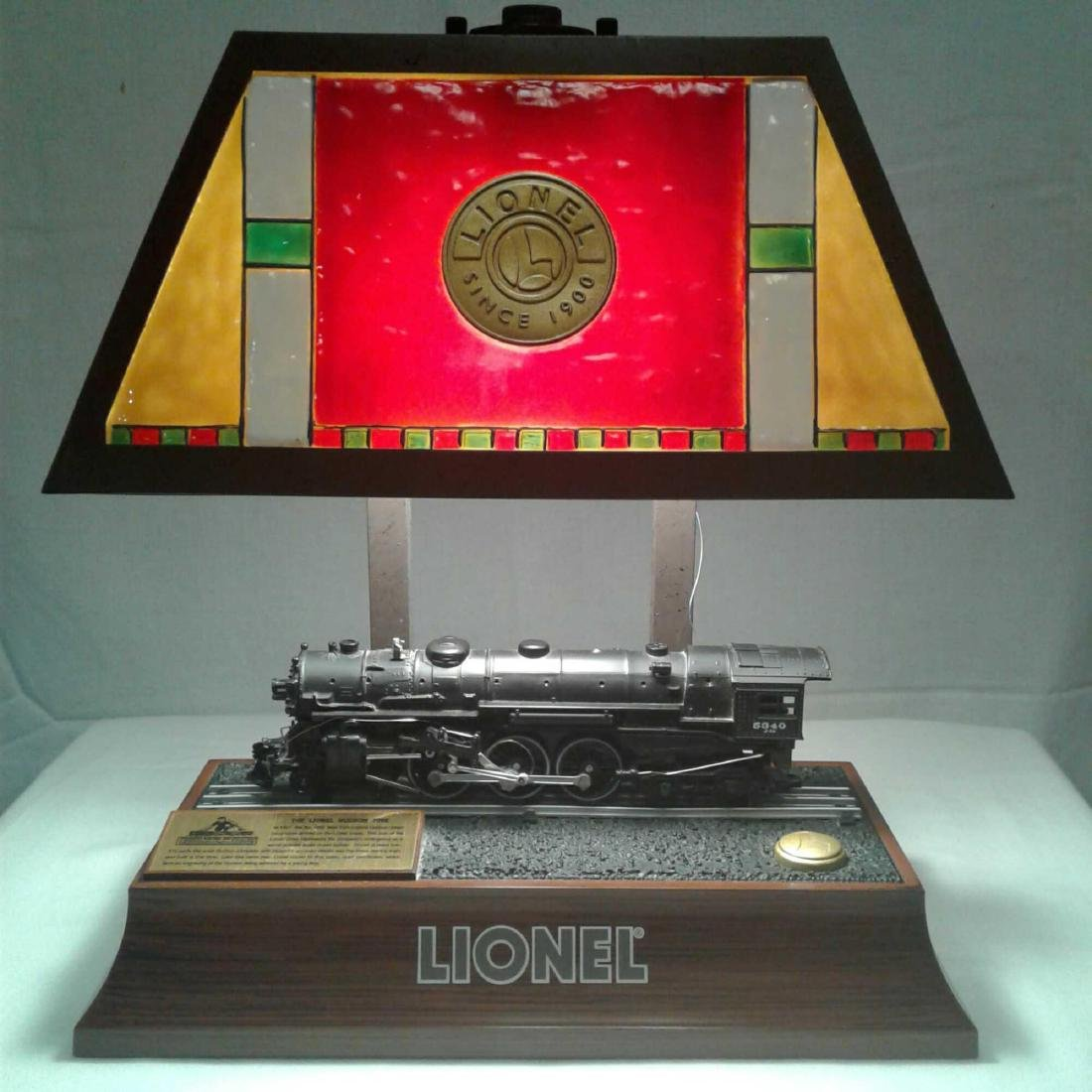 "Lionel Train Engine Lamp 13.5""H x 12""W"
