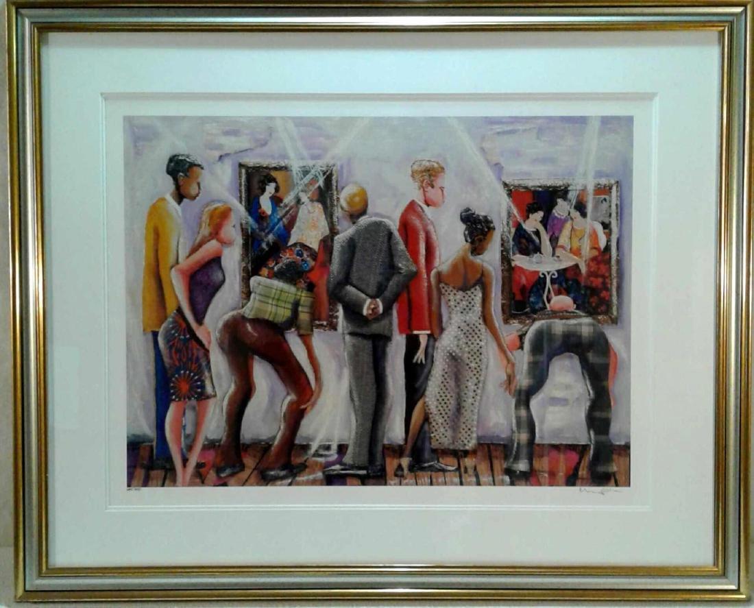 """Marcus Glenn """"Spectators at the Tarkay Exhibition"""""""