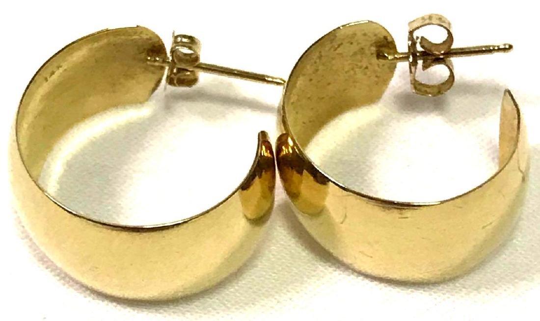 14k Gold Earrings Estate Jewelry