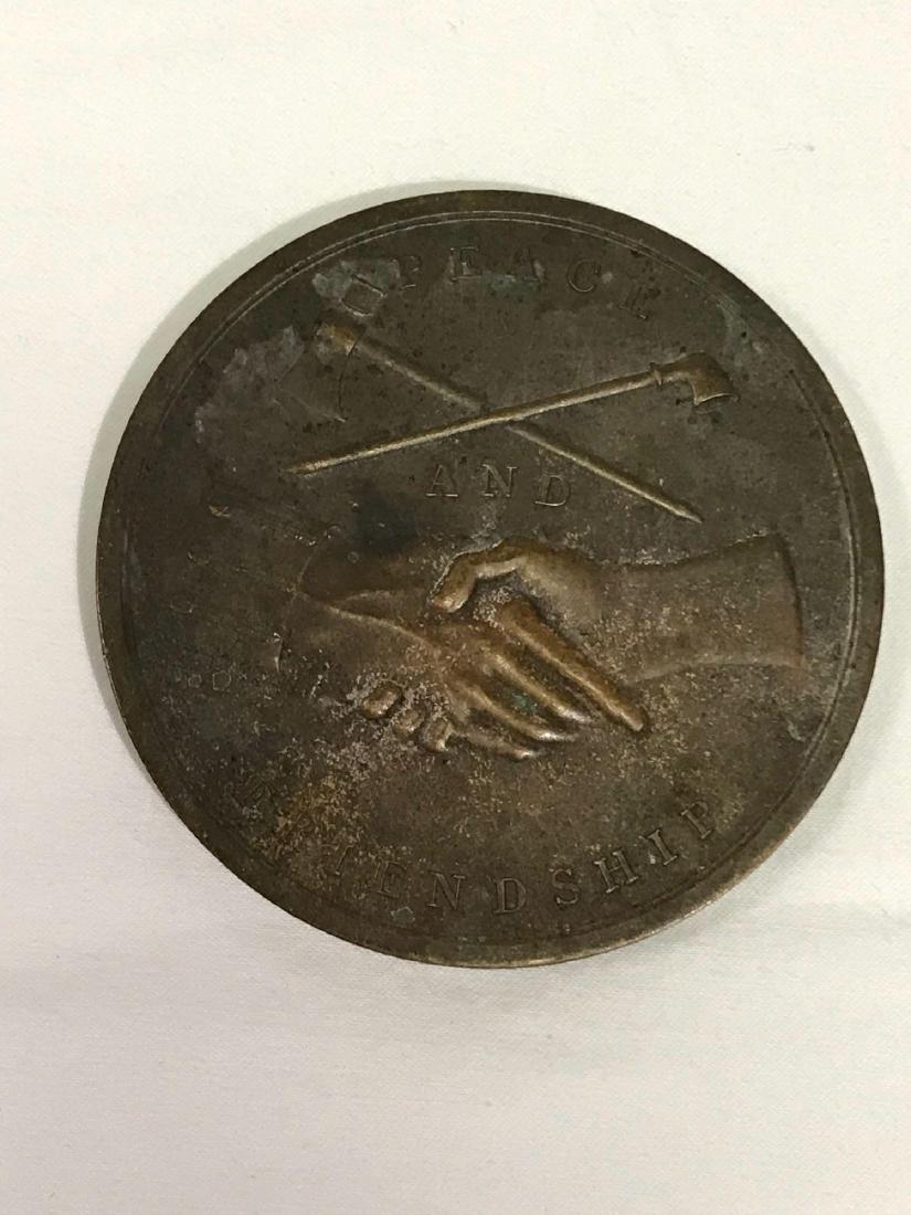"James Madison 3"" Bronze 1809 Peace Medal - 2"