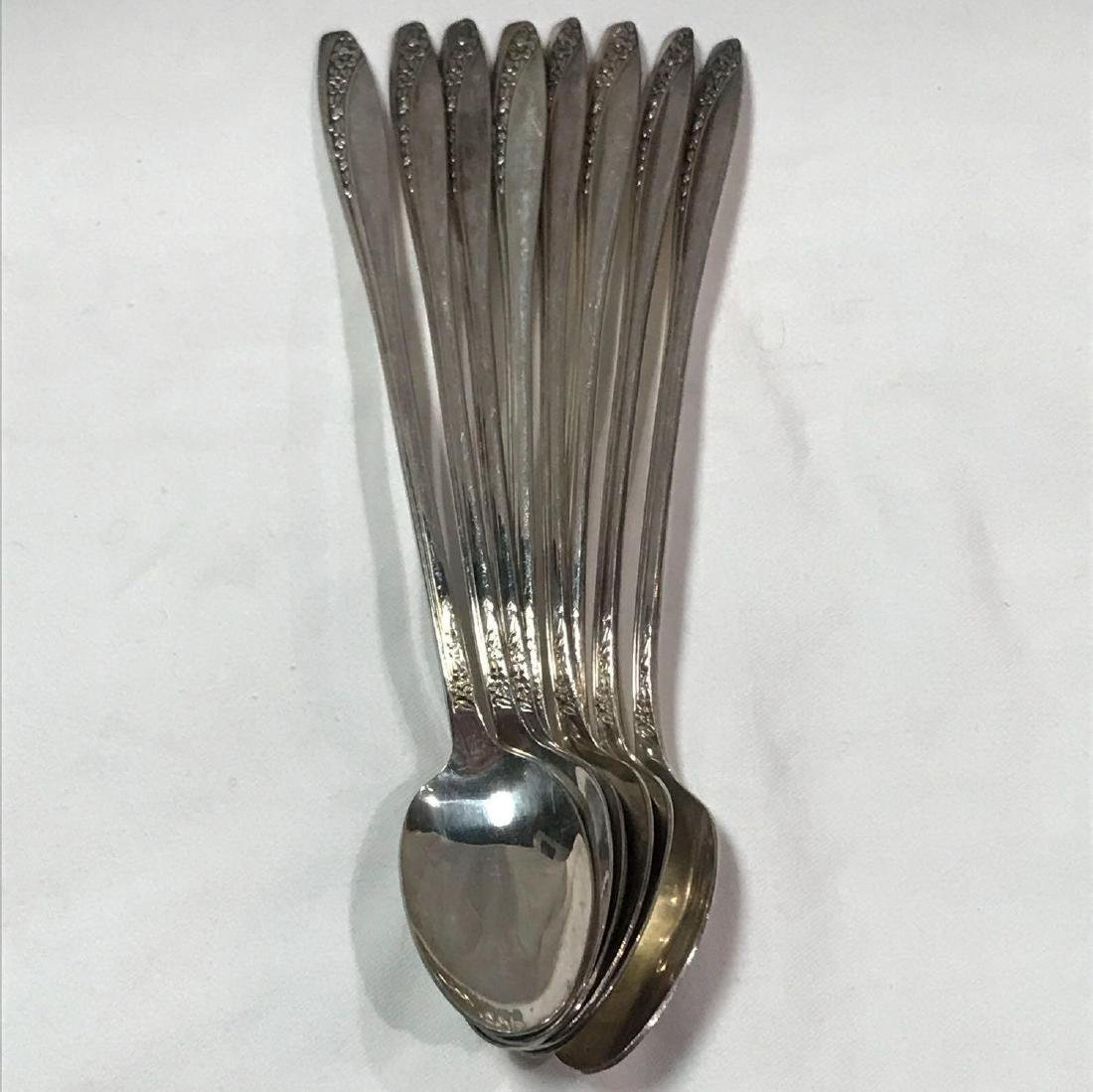 8 Wm Rogers International Silver Iced Tea Spoons