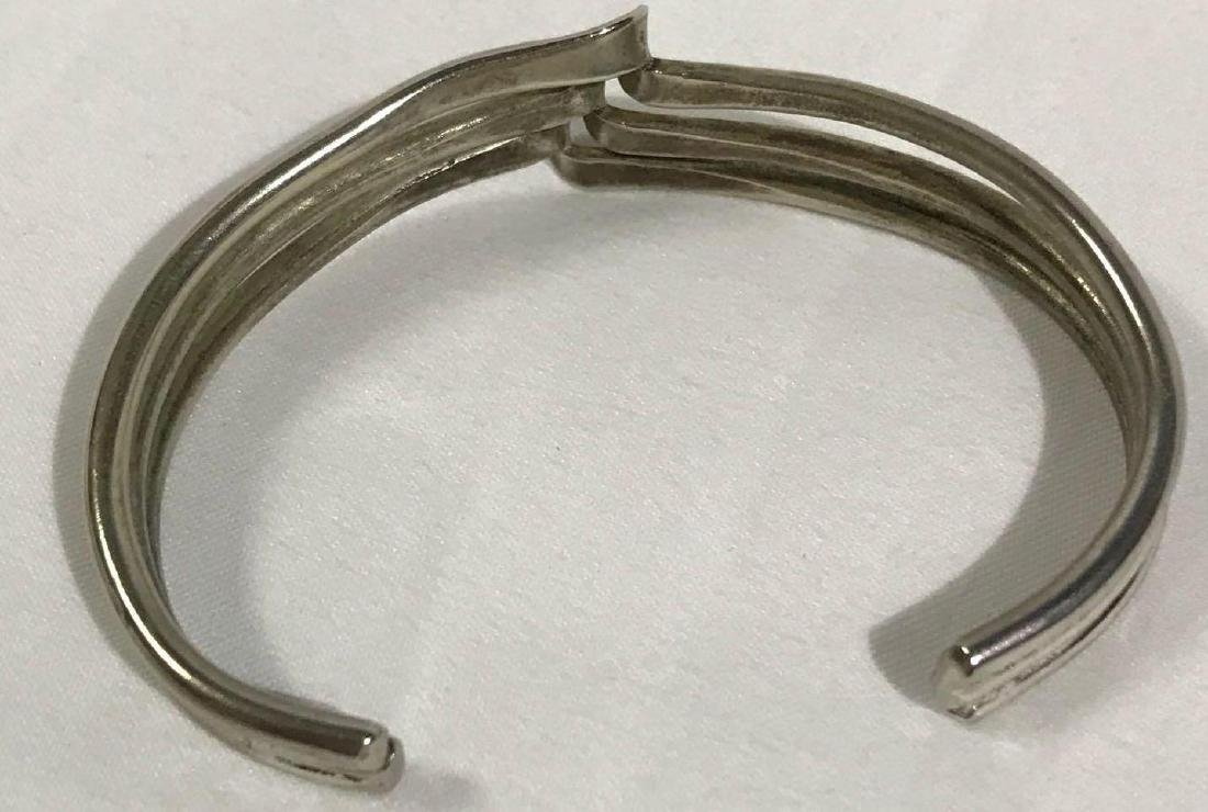 3 Sterling Silver Braclets - 2