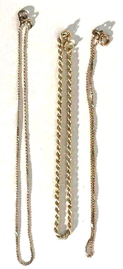 3 14K Gold Bracelets
