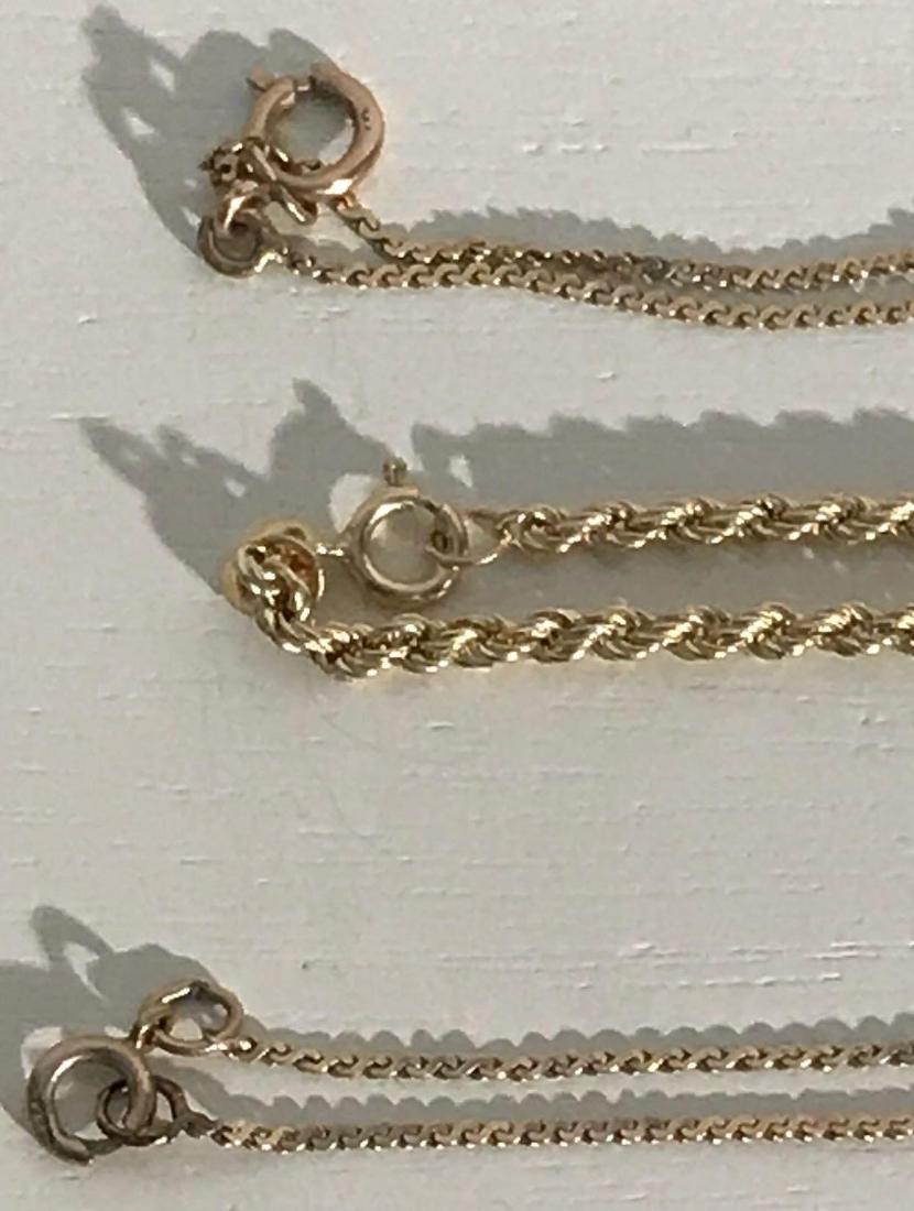 3 14K Gold Bracelets - 2
