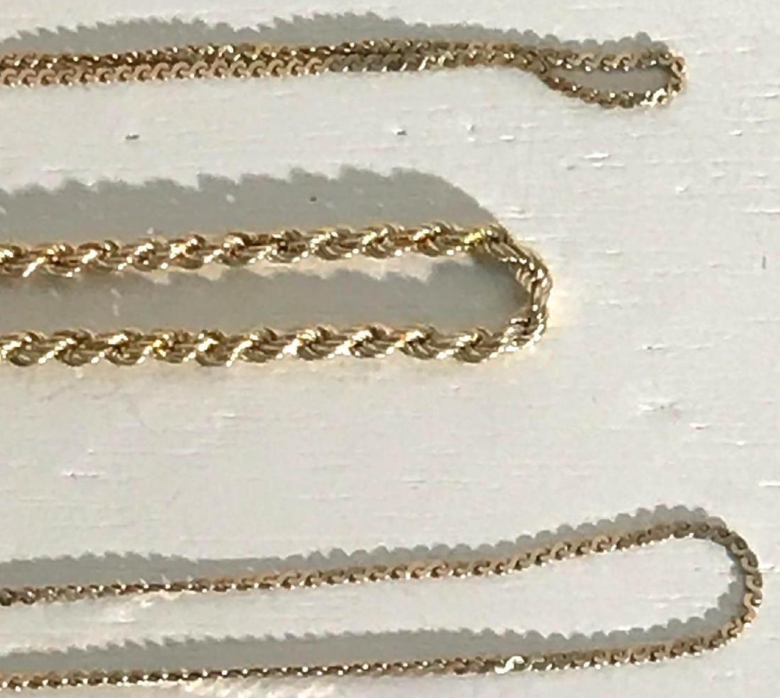 3 14K Gold Bracelets - 4