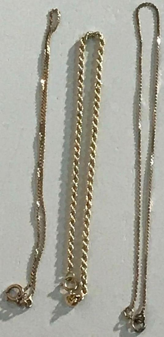 3 14K Gold Bracelets - 5