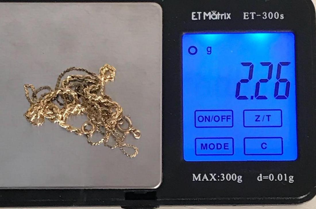3 14K Gold Bracelets - 6