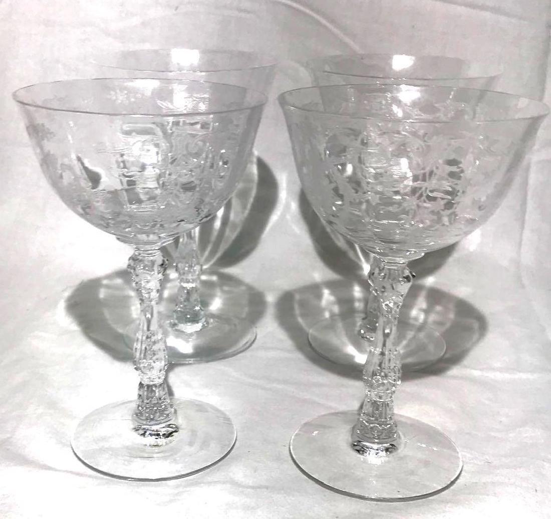 4 Fostoria Navarre glasses