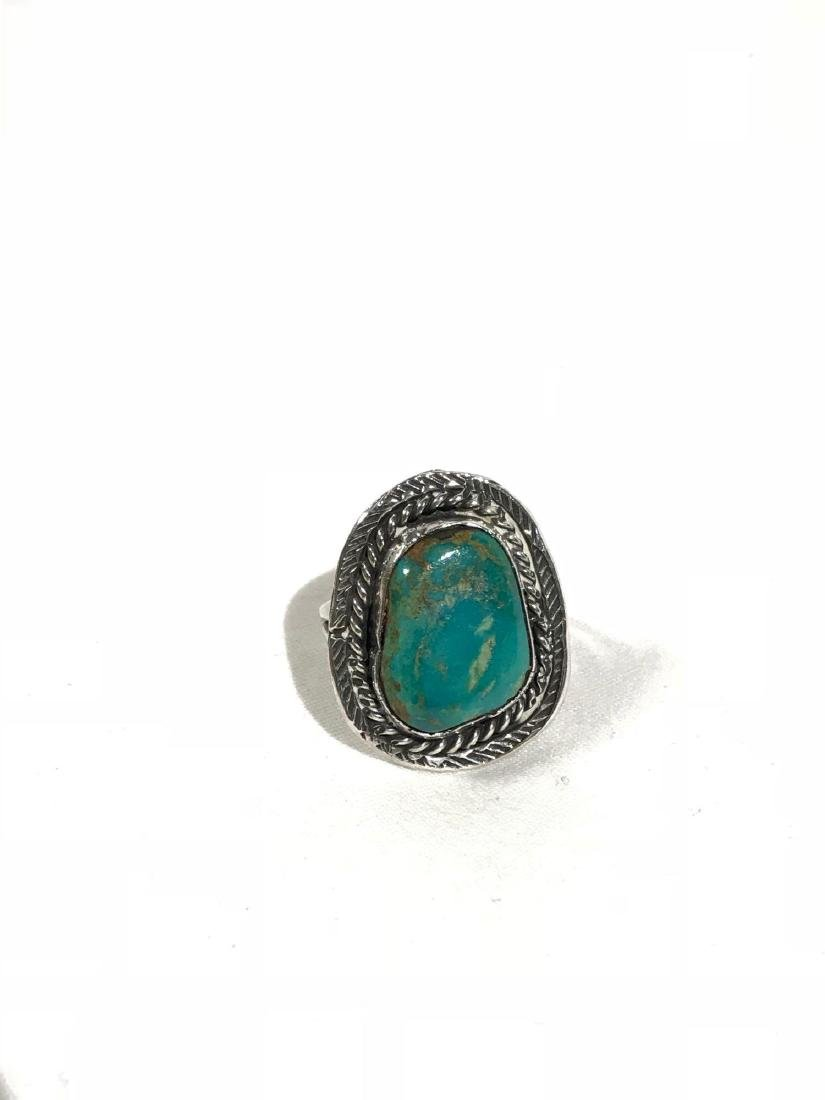 Sterling Silver and Turquoise Ring - 2