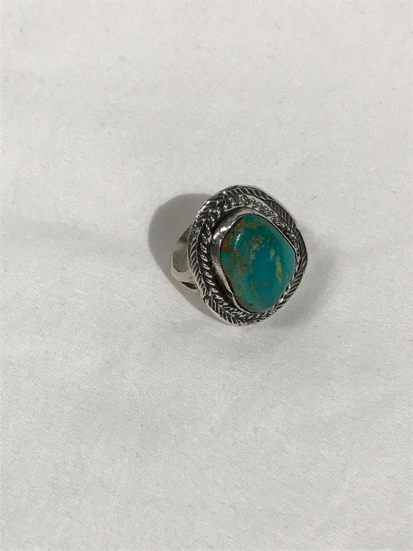 Sterling Silver and Turquoise Ring - 5