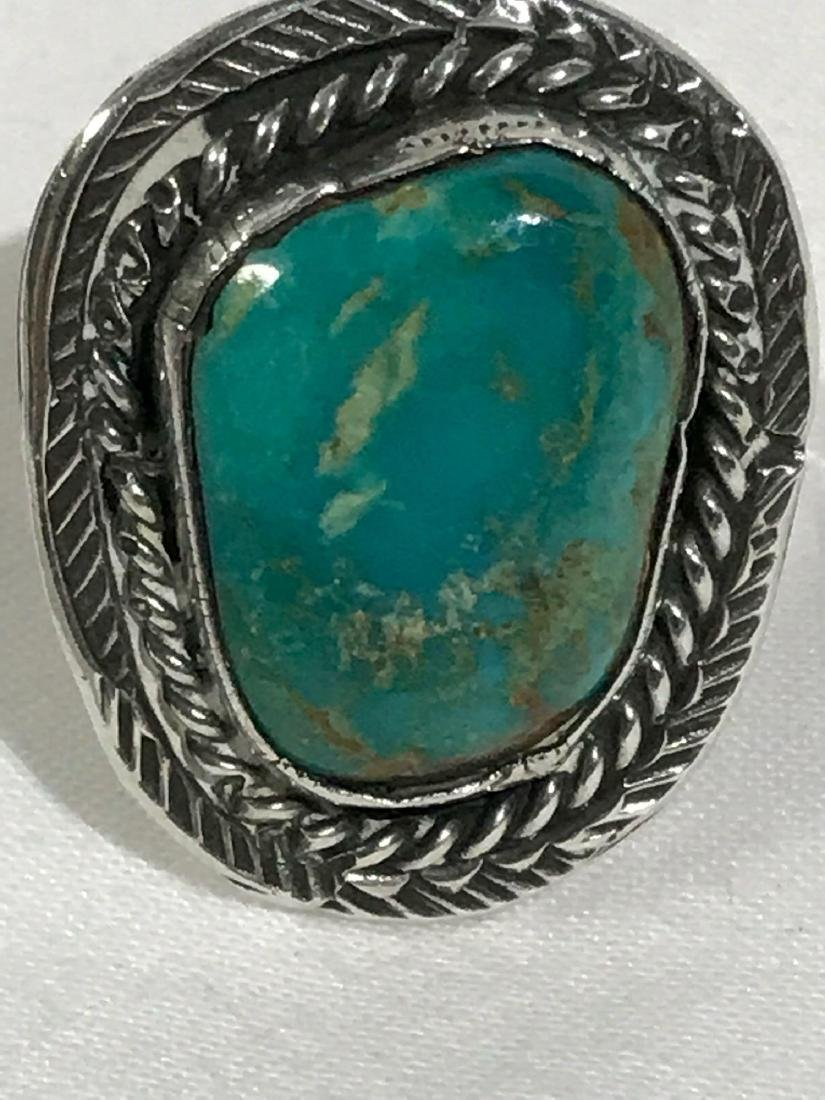 Sterling Silver and Turquoise Ring - 7