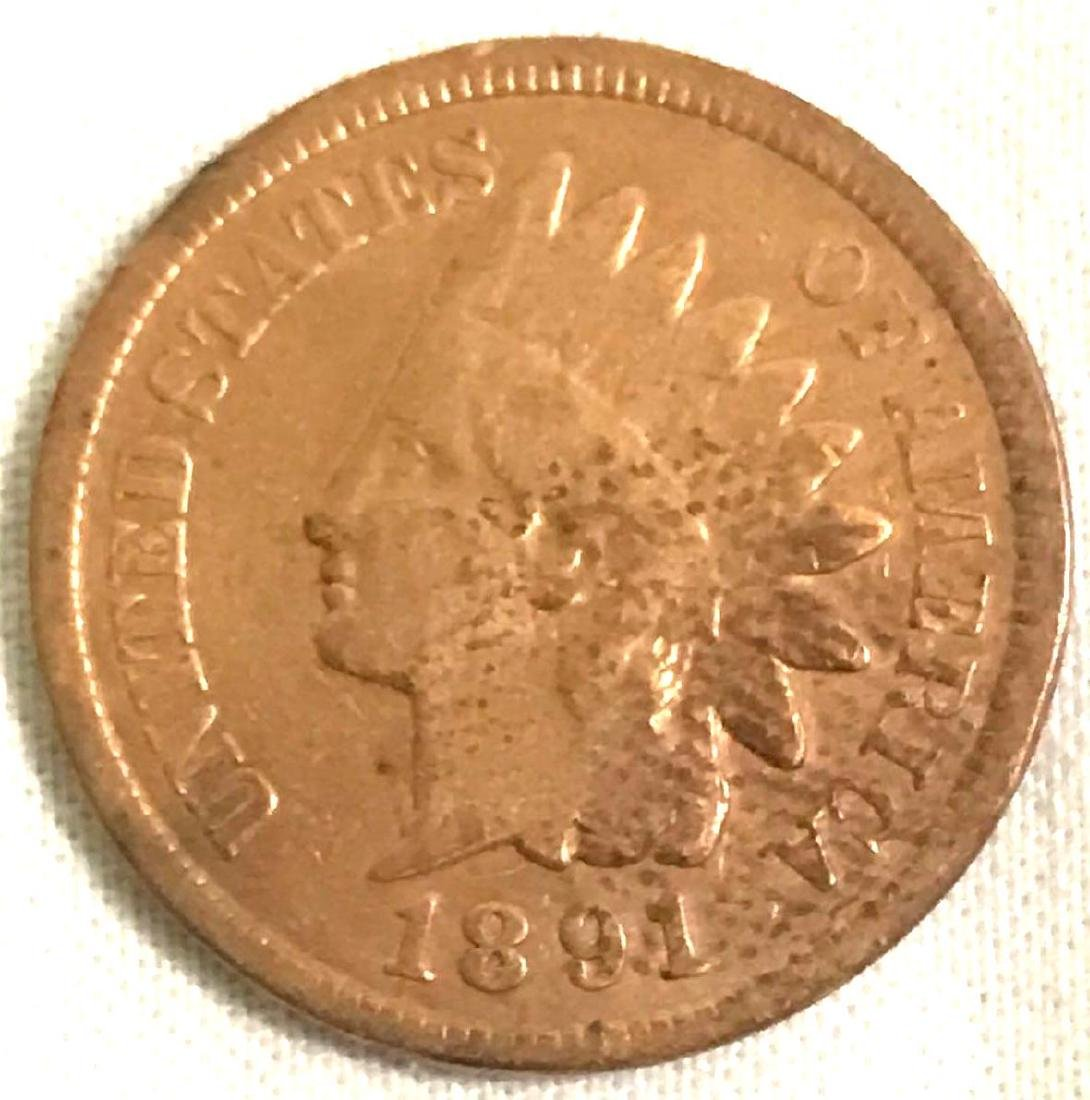 8 Indian Head Pennies 1890's - 8