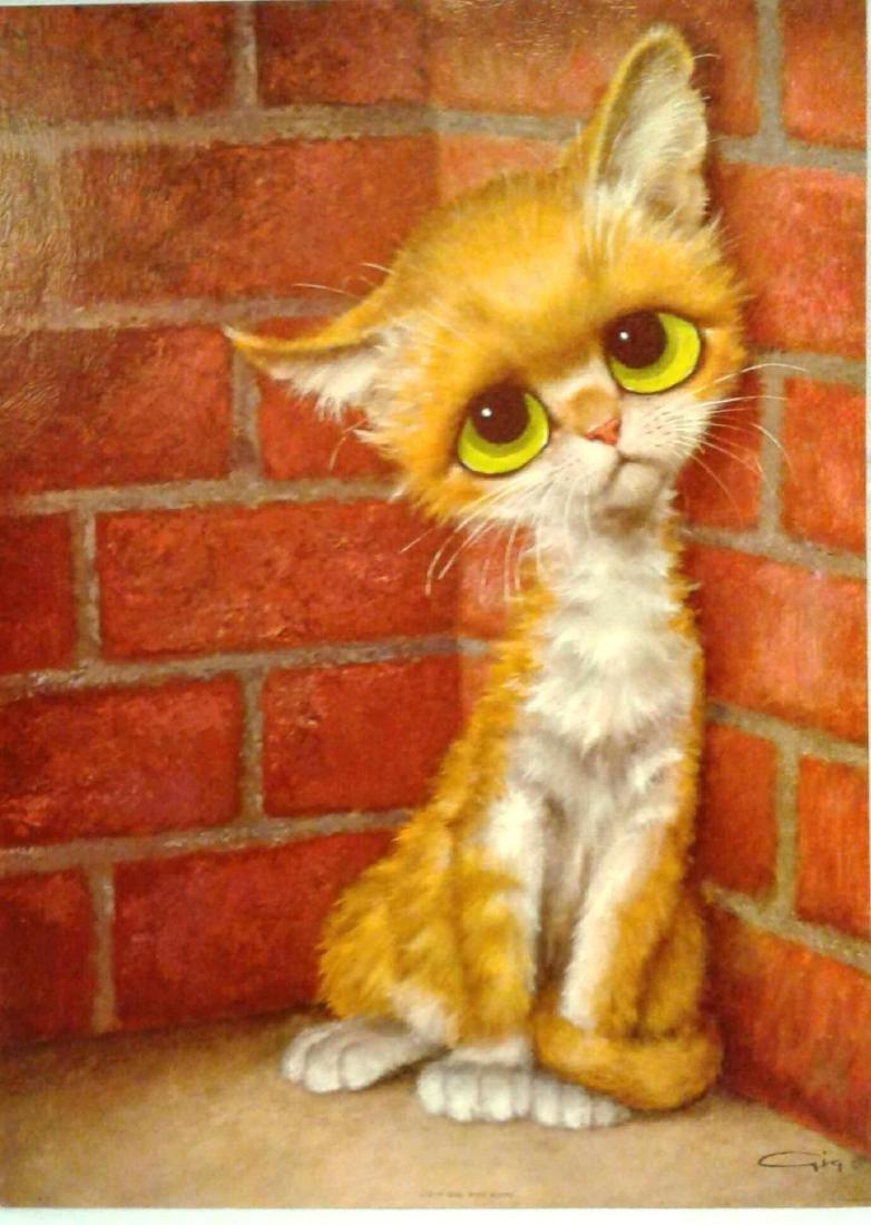 "Gig Poster ""Pity Kitty"" Big Eye Art"
