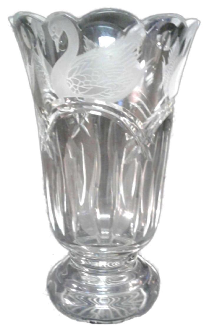 Waterford Crystal Swan Lake Vas