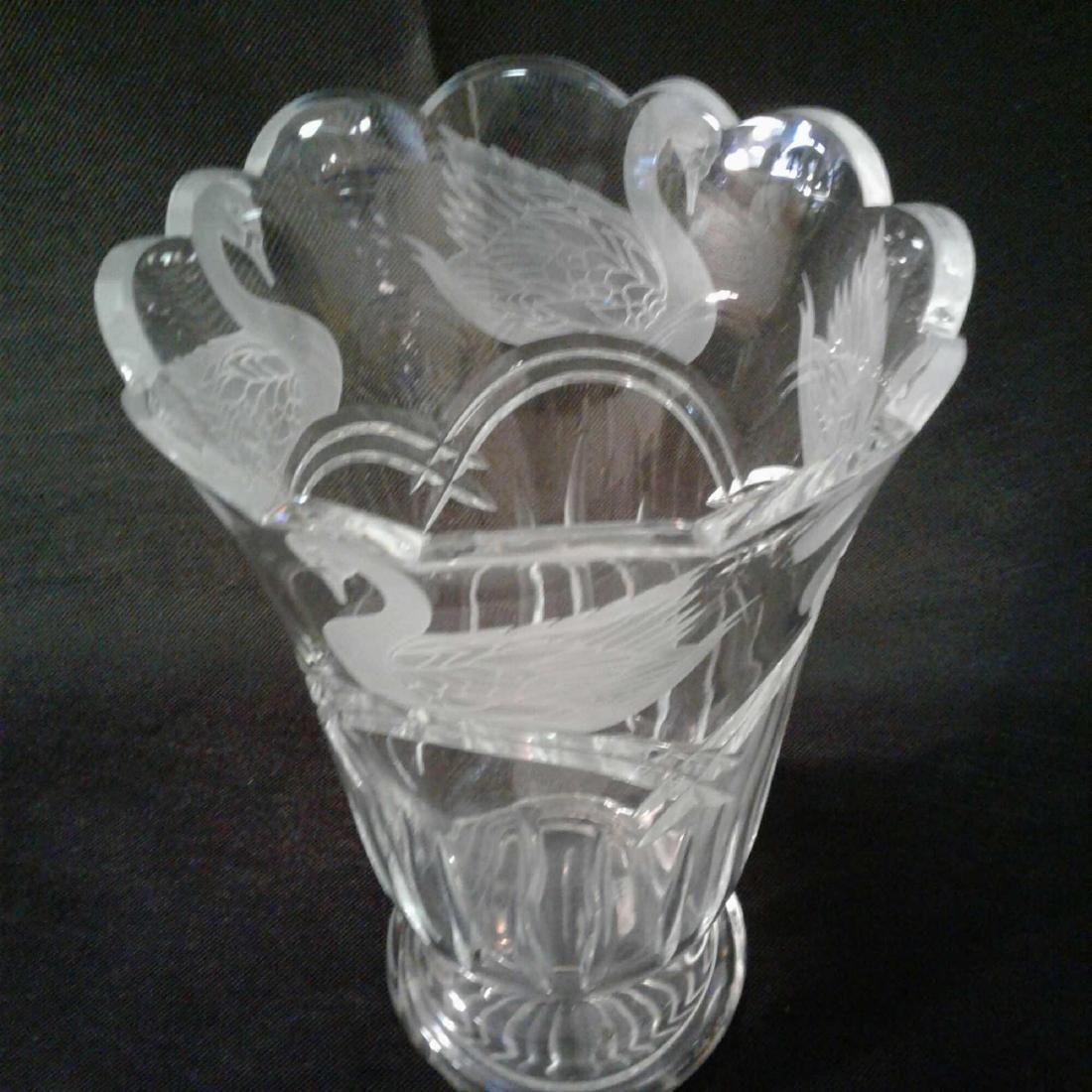 Waterford Crystal Swan Lake Vas - 3