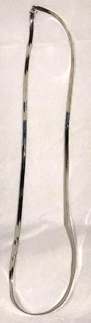 Vintage Sterling Silver Herringbone Necklace