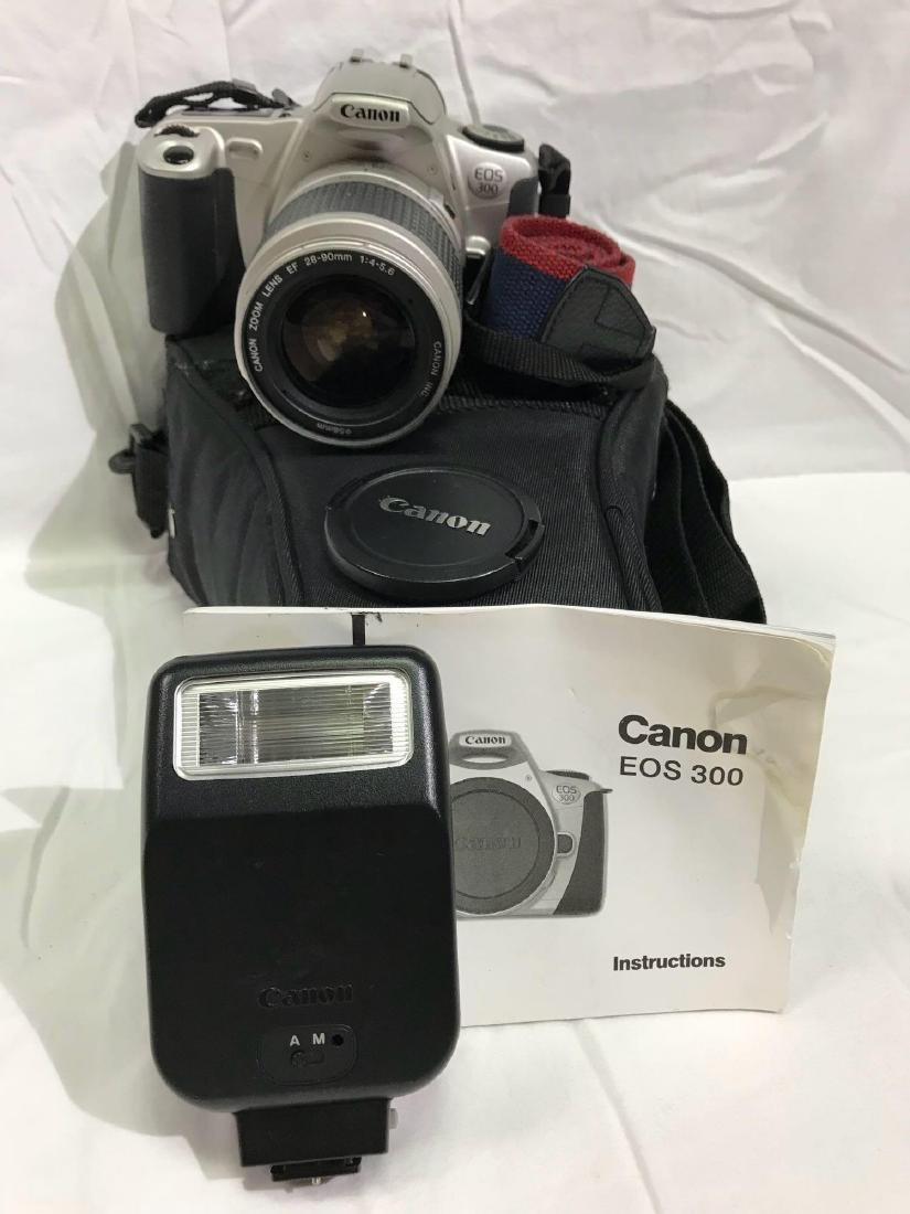 Canon EOS 300 SLR Camera and Speedlight