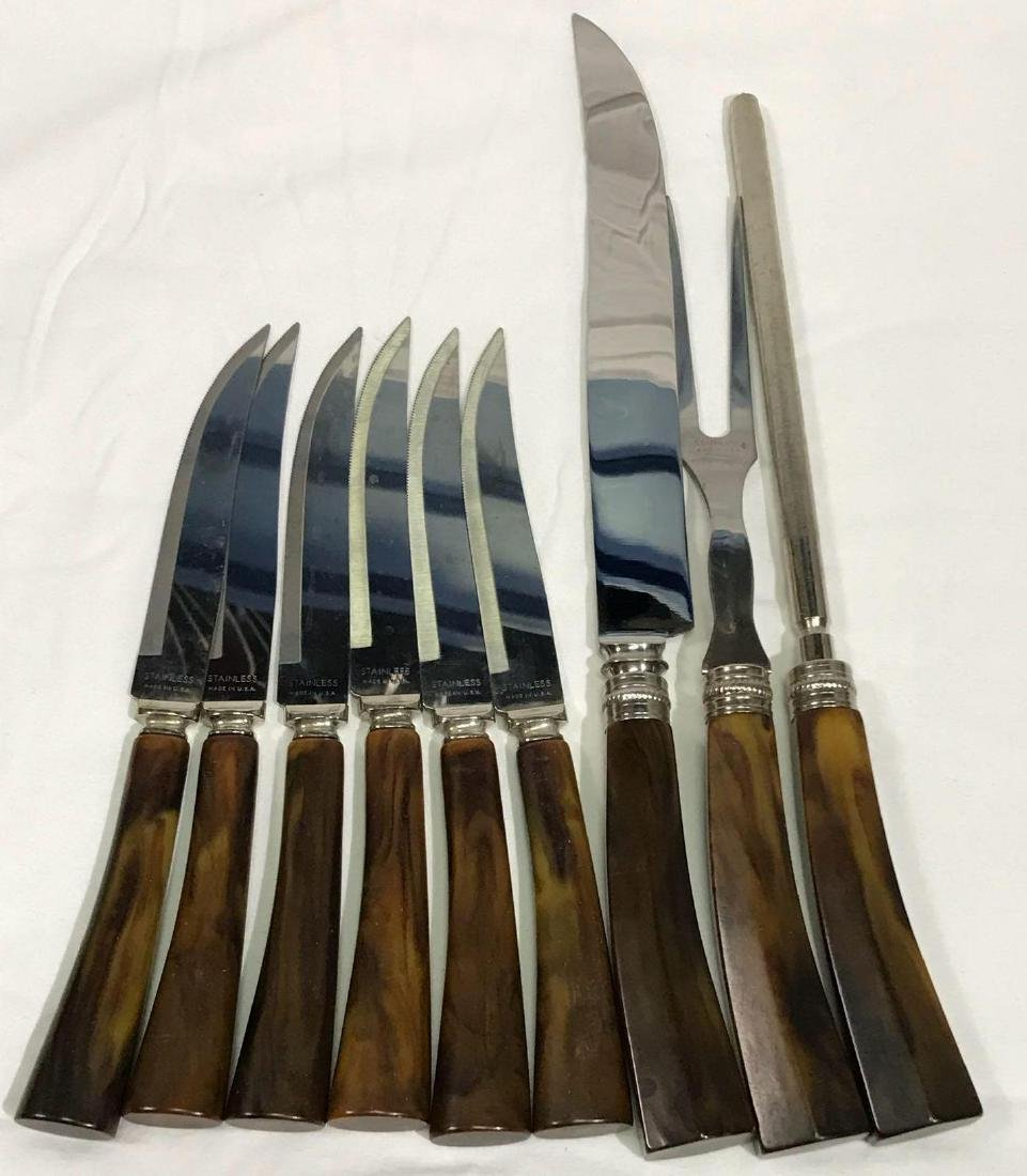 9 Piece Sheffield Carving and Steak Knife Set
