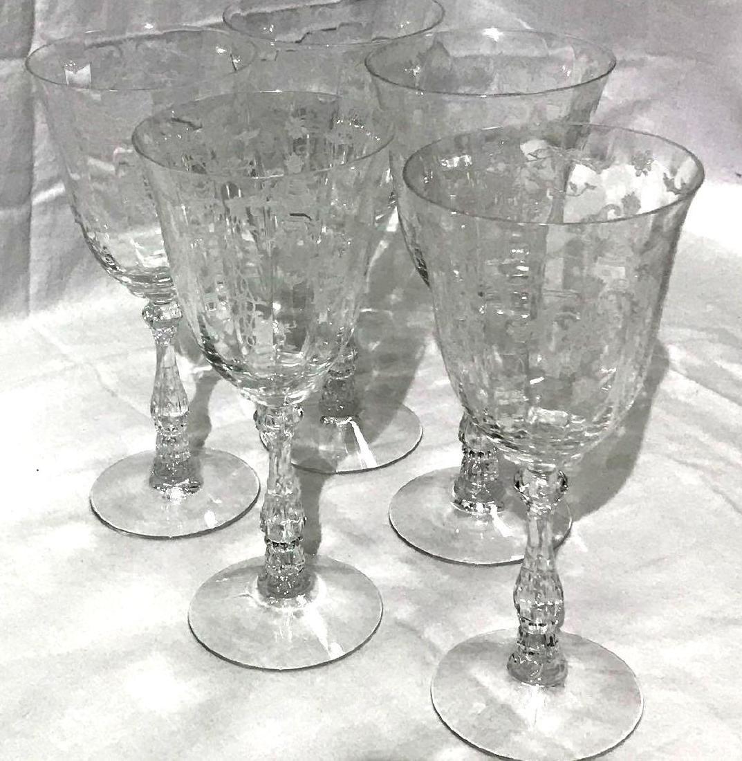 5 Fostoria Navarre Glasses - 2