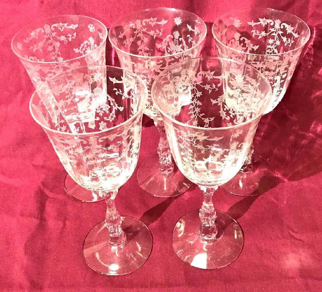 5 Fostoria Navarre Glasses - 5