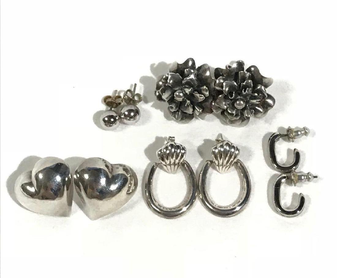 5 Pair Vintage Sterling Earrings