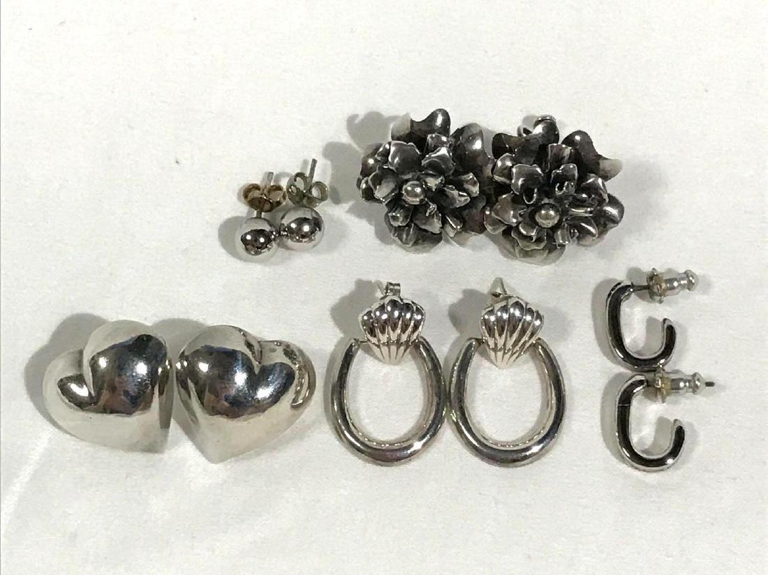 5 Pair Vintage Sterling Earrings - 2