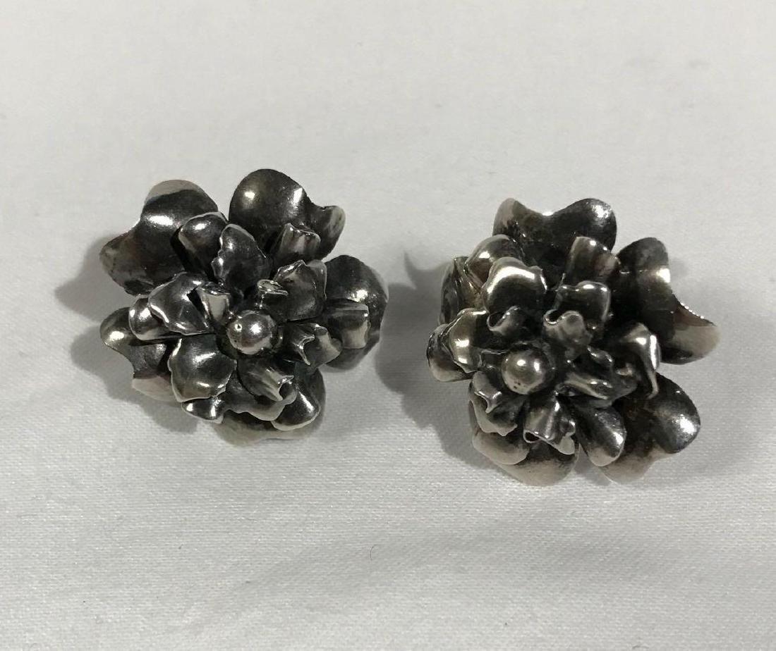 5 Pair Vintage Sterling Earrings - 4