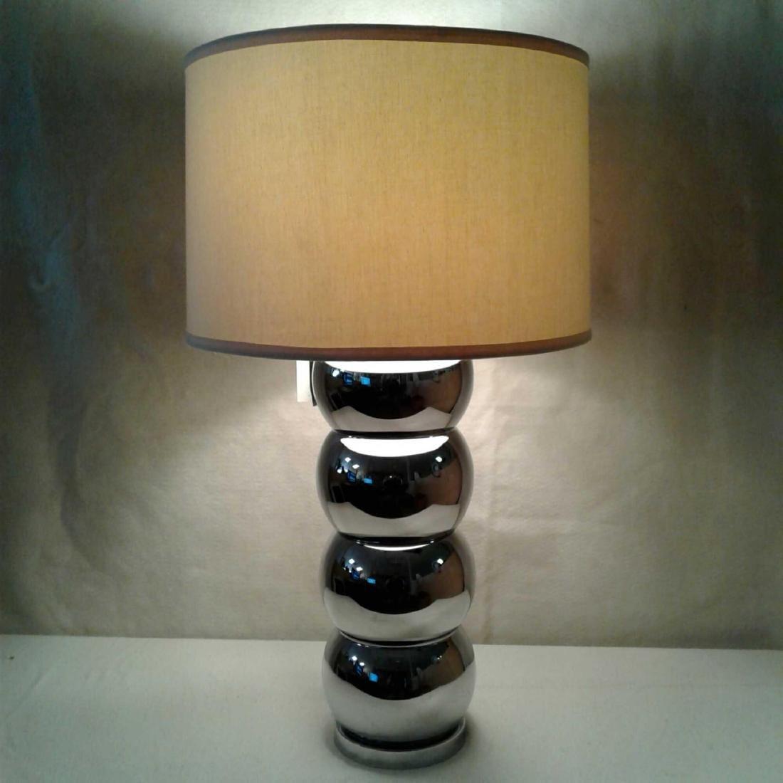 George Kovacs Nickel Chrome Caterpillar Lamp