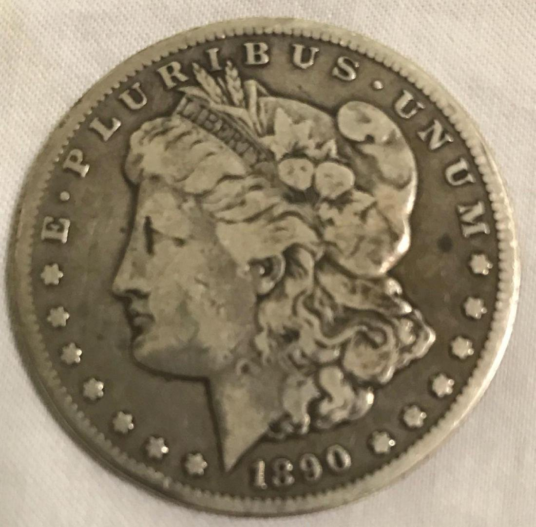 1890-CC Carson City Mint Morgan Dollar - 10