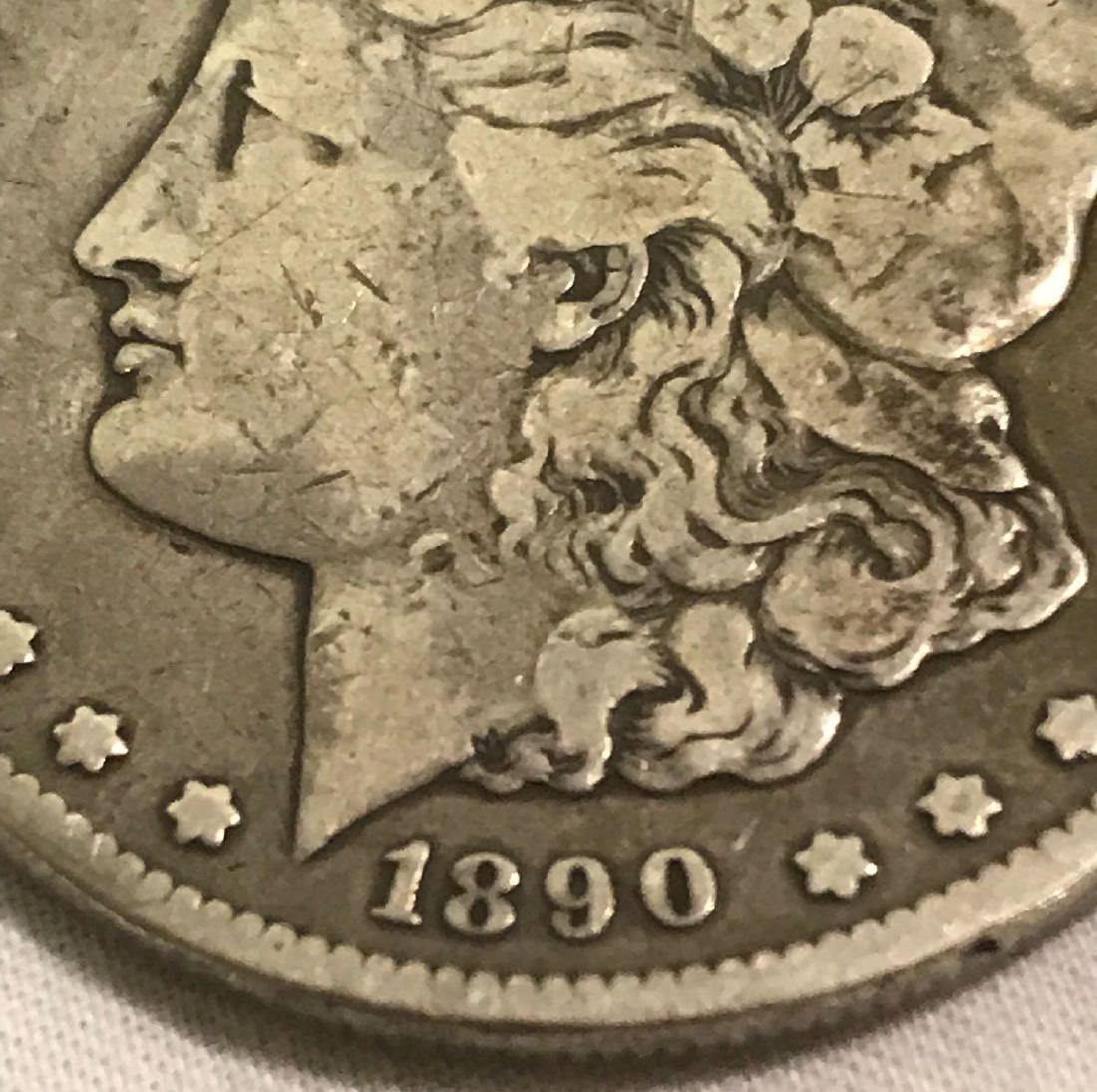 1890-CC Carson City Mint Morgan Dollar - 3