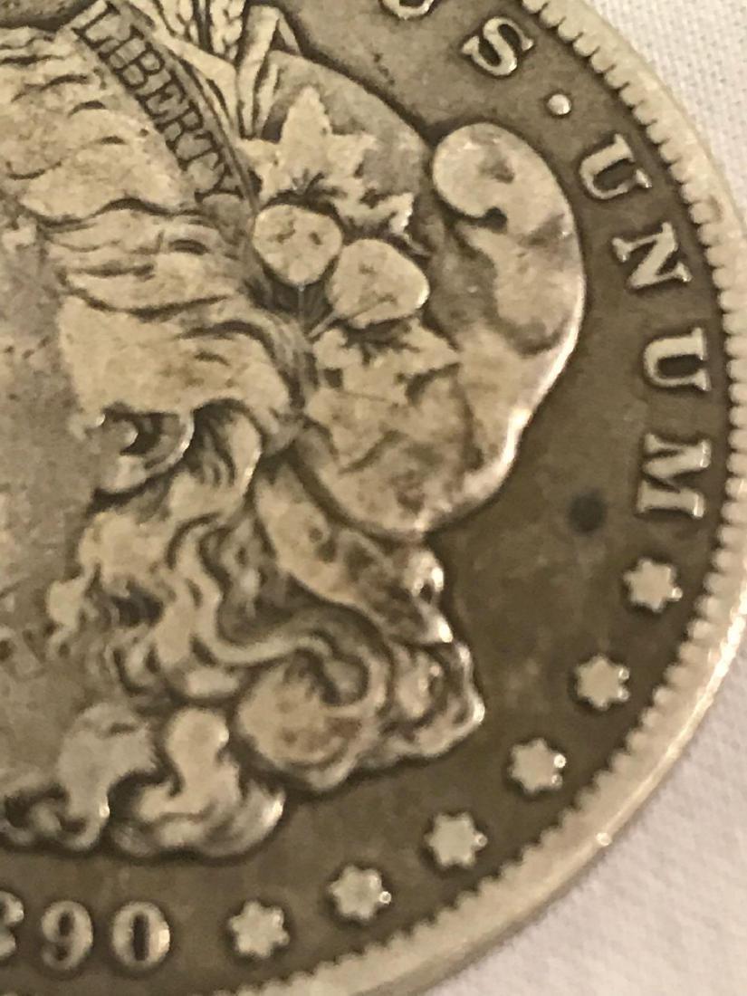 1890-CC Carson City Mint Morgan Dollar - 4