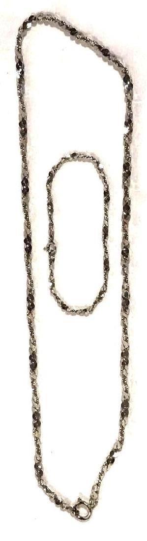 Sterling Silver Necklace and Bracelet Set