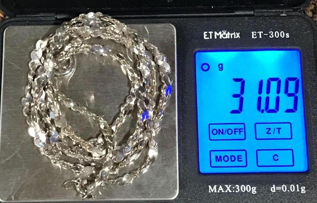 Sterling Silver Necklace and Bracelet Set - 6
