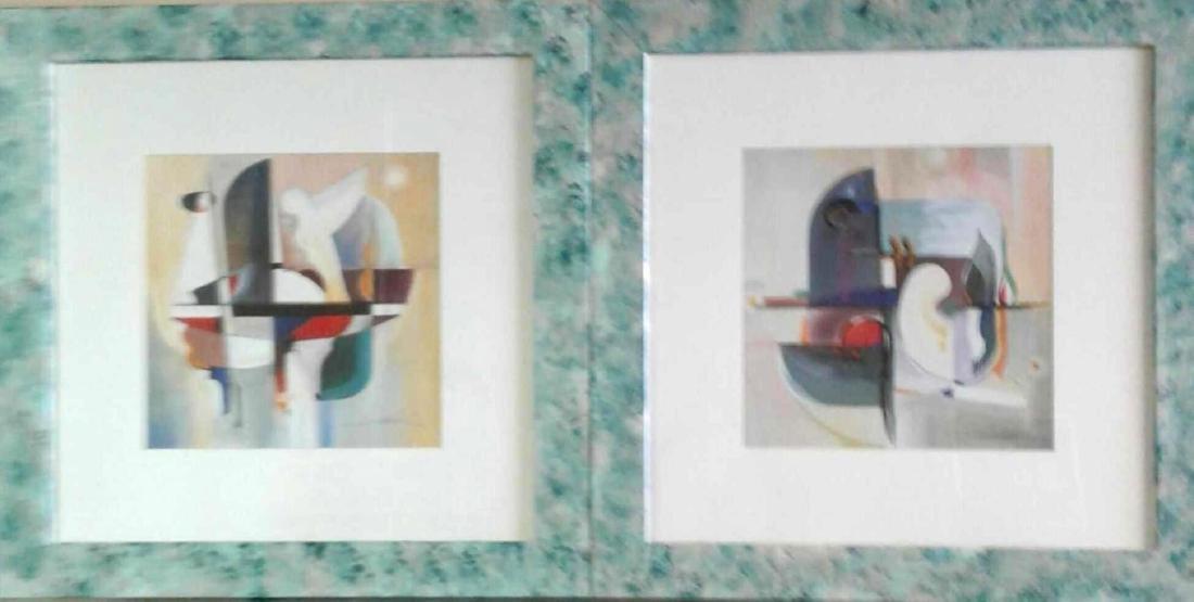 2 Modernism Art Oil Paintings