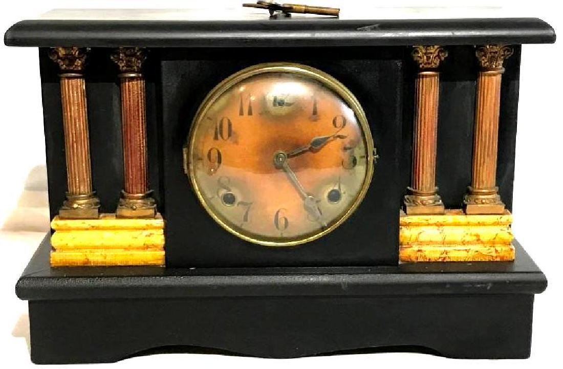 Antique Mantle Clock with Key