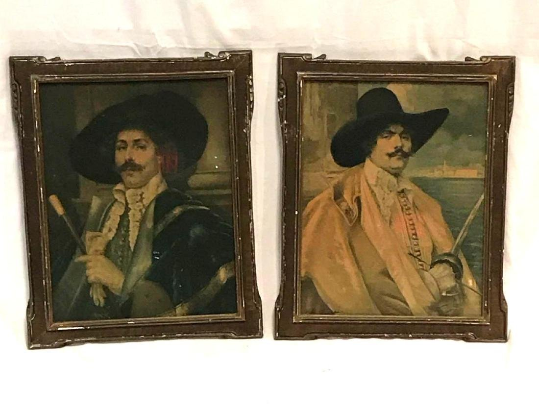 2 Buccaneer Swashbuckler paintings.