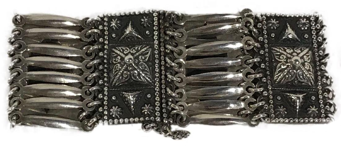 Vintage Sterling Silver Bracelet From Mexico
