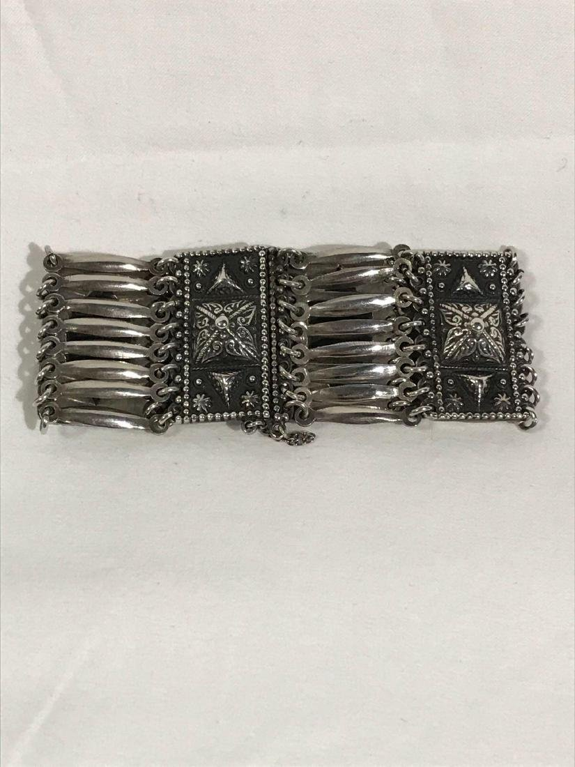 Vintage Sterling Silver Bracelet From Mexico - 2