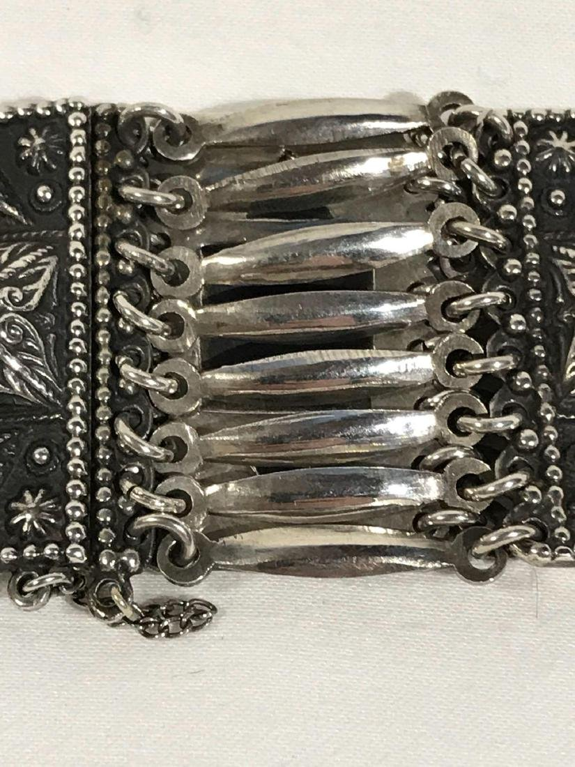 Vintage Sterling Silver Bracelet From Mexico - 4