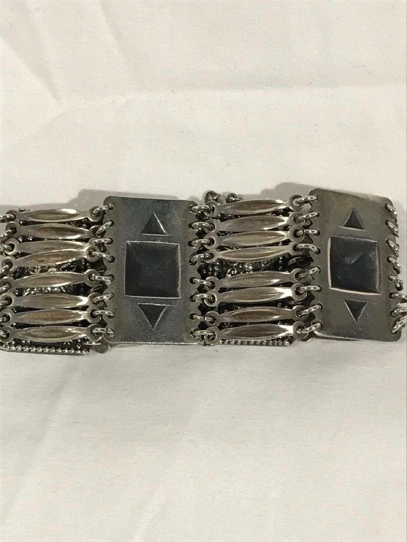 Vintage Sterling Silver Bracelet From Mexico - 6