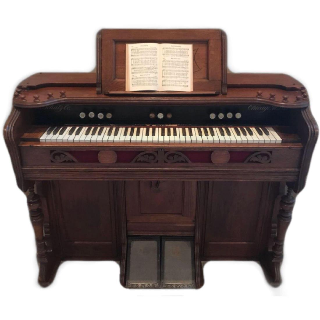 M. Schulz Co. Chicago, USA, Pump Organ