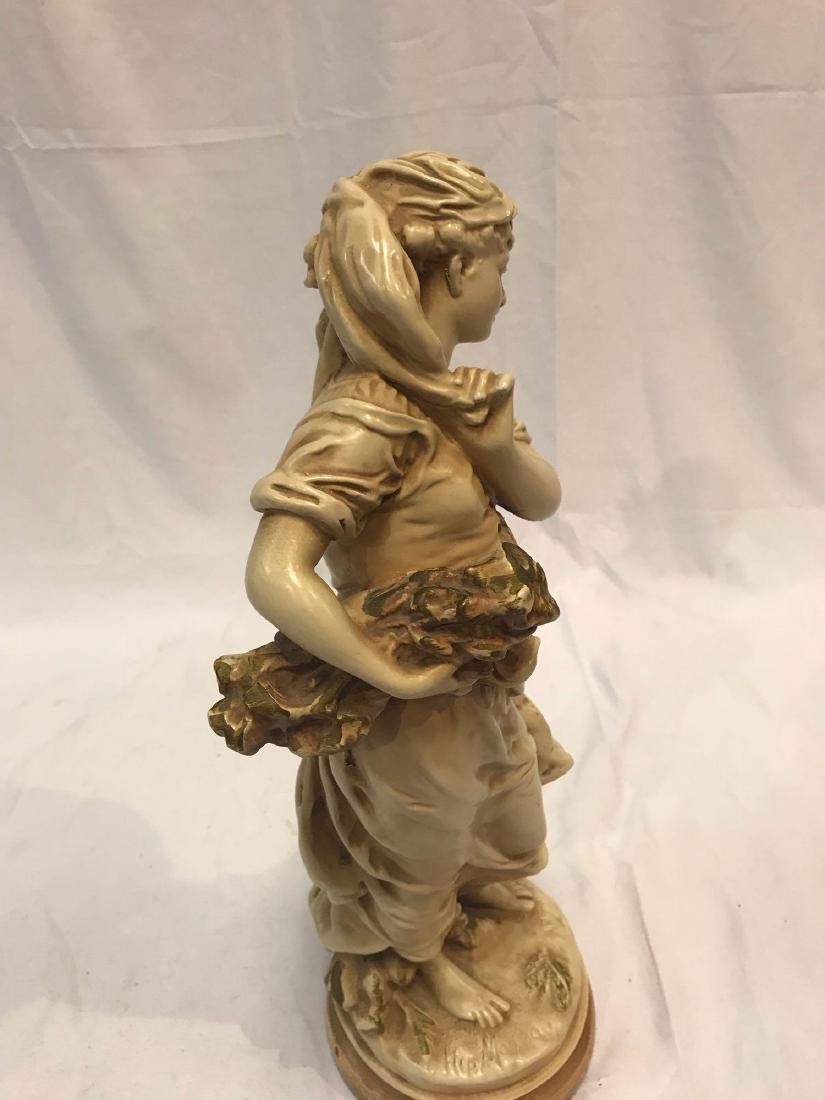 1 Hippolyte Moreaur Alexander Backer Chalkware Statues - 10