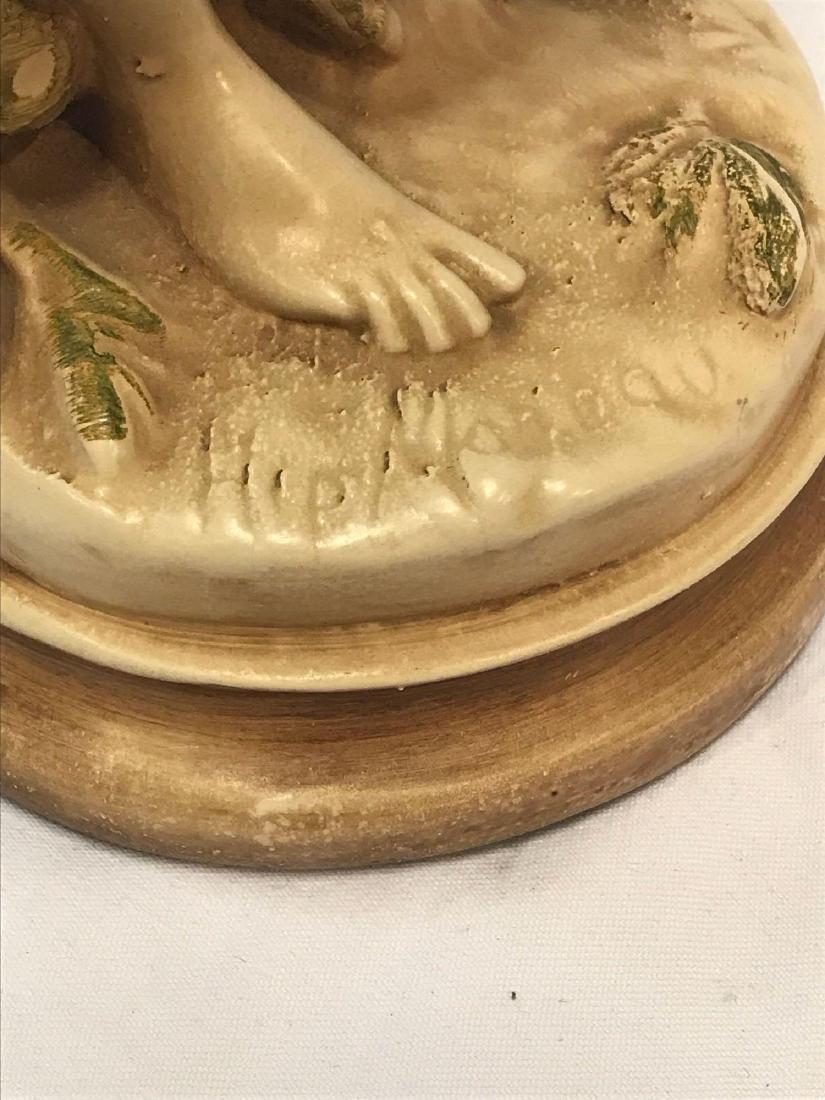 1 Hippolyte Moreaur Alexander Backer Chalkware Statues - 2