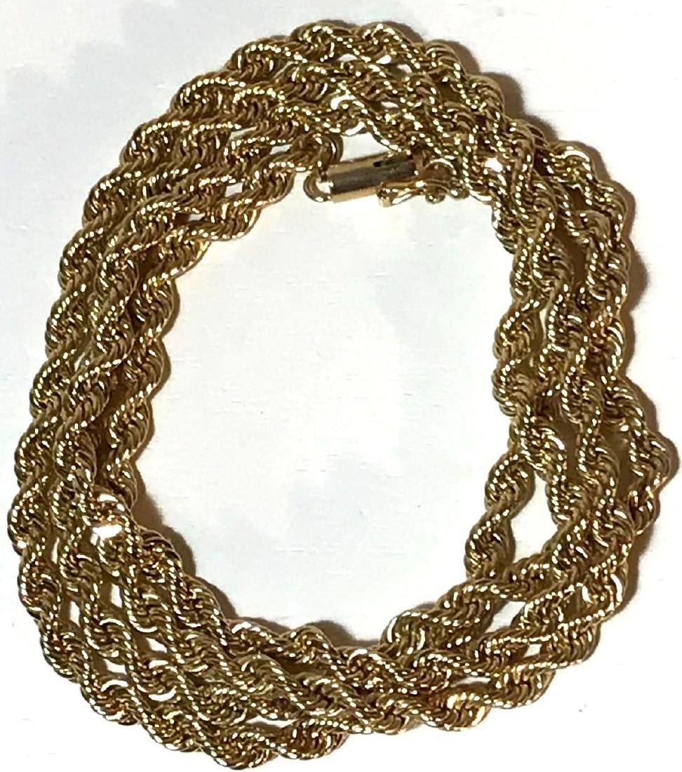 14k Gold Estate Jewelry Rope Necklace